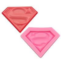 superman silicone venda por atacado-Superman s super hero molde silicone fondant molde do bolo molde de sabão molde de chocolate doces moldes diy decoração de cozimento rosa ferramentas da cozinha
