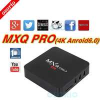 Wholesale Arabic Iptv Wholesale - Hot Best MXQ Pro 4K Android 6.0 TV Box RK3229 KD Fully Loaded With custom Support arabic iptv stream better X96 T95M T95X T95N
