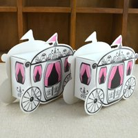 Wholesale Cinderella Carriage Candy Boxes - Wholesale- 100pcs lot Romantic Fairy tale Favors Gifts Baby Shower Wedding Candy Box Cinderella Pumpkin Carriage wedding decoration mariage