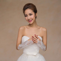 Wholesale Long Sequin Gloves - Long Bridal Gloves Ivory Wedding Bridal Accessories Sheer with Applique Shining Sequins Long Bridal Gloves Cheap 2017 New Arrival