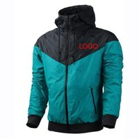 Wholesale Thinnest Fabrics - Wholesale Fall thin windrunner Men Women sportswear waterproof fabric Men sports jacket Fashion zipper hoodie Free Shipping