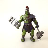 karikatür oyuncakları taşıyor toptan satış-20 CM Thor: Ragnarok Gladiatus Hulk bebek oyuncakları 2017 yeni çocuk Avengers karikatür modeli PVC oyuncaklar Eklemler B taşıyabilirsiniz