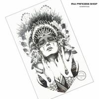 tattoo flash indisch großhandel-Großhandelsindischer Krieger-Tätowierung-Körper-Kunst-Flash-Tätowierungs-Aufkleber 12 * 20cm imprägniern gefälschte Tätowierung Auto-Anzugs-Ausgangsdekor-Wand-Aufkleber