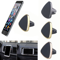 Wholesale cell phone car stand - Universal Magnetic Car Air Vent Holder Mount Cradle Stand For Cell Phone GPS Air Vent Cradle Stand 360 Rotation Mount Holder PCB0015