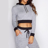 Tuta da donna Tuta da ginnastica a due pezzi per le donne Top elegante e pantaloni Set da donna Casual Sweat Suit Fitness Winter Outfits