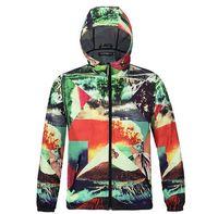 Wholesale Rainproof Clothing - 2017 HOT Sale Men 3D Explore Camouflage windbreak Jackets hoodie hood by air men Outerwear patchwork Winter RainProof Coats Men's Clothing