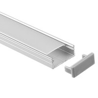 Wholesale industrial pieces for sale - led aluminium profile m per piece LED Aluminum extrusion profile for led strips with milky diffuse cover or transparent cover SN1809