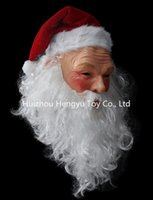 Wholesale Outdoor Education - Wholesale- HUIZHOU Education Toys Realistic outdoor ornament chrismas mask Santa Claus costume