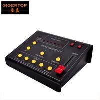 Wholesale 512 dmx controller - Gigertop TP-D21 DMX Fire Machine Controller Box Mini Size Color Switch Button 2 DMX 512 Out Connector Address Setting 110V 220V