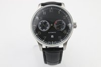 Wholesale Nice Automatic Watches - 2016 Luxury Watch Grdan New Big NEW Men's Big Portuguese 7 day Automatic White Hard to find Stainless Steel Date 5001-07 nice black leather