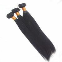 уток для волос оптовых-3 Пучки Перуанские Волосы Девственницы Прямые Человеческие Волосы Ткет Машина Двойной Уток Шить В Наращивание Волос 8-30 дюймов