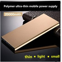 Wholesale External Battery Dhl - NEW Free DHL Battery charge Power Bank 10000mAh ultra-thin powerbank External Battery power supply mobile charger for mobile phone