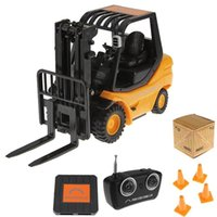 Wholesale Fork Lift Trucks - Wholesale- RC 6-Channel Forklift Radio Remote Control Fork Lift Truck Car Kid Toys Gift
