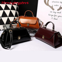 Wholesale Genuine Leather Handbags Korea - Genuine natural leather Handbag for women Design korea bag Female High grade Shoulder bags bolsas de grife