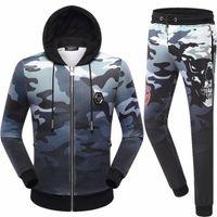 Wholesale Black Diamond Jacket - Autumn Winter New Arrived! Men's Tracksuit Camouflage Hoodies Sweatshirts Print Diamond Jacket Pants Trouers Suit 8565