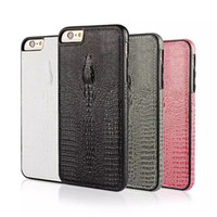 Wholesale manufacturers mobile phone case - 2017 New For iphone 7 7plus Manufacturers hot selling phone leather and PC crocodile embossed leather shell mobile phone protective sleeve