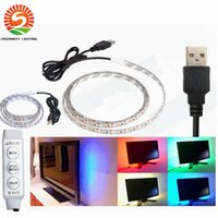 Wholesale Led Strip Bicycle - DC 5V Led Strips 5m RGB SMD5050 60LED m Flexible LED Strip for TV Car Computer Bike Bicycle Tent Christmas Festival Party Lighting