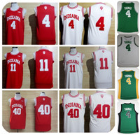 Wholesale Victor Shirt - MENS Indiana Hoosiers College Basketball Jerseys 4 Victor Oladipo 11 Isiah Thomas 40 Cody Zeller Shirt Stitched University Basketball Jersey