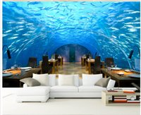 Wholesale underwater wallpaper murals - Underwater World Corridor TV Backdrop mural 3d wallpaper 3d wall papers for tv backdrop