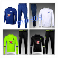 Full sportswear suit - 17 Chelsea Survetement HAZARD DIEGO COSTA OSCAR training suit tracksuits tight pants sportswear chelsea tracksuit
