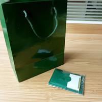 ingrosso solo scatole-Solo carte e documenti originali della scatola! Nuovo stile verde di marca Orologio originale per carte regalo Orologi Boxesbag per Rolex Watch Box