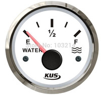 Wholesale Marine Fuel Gauge - Wholesale- New water level gauge 52mm 0-190ohm signal 12v 24v for marine yacht motor boat car