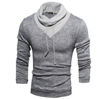 Wholesale American Apparel Pullover - Hot sale 1pcs New fashion mens sweaters man pullover turtleneck sweater apparel Men's Clothing Free Shipping