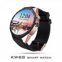 KW88 Smartwatch Bluetooth 3G Smart Watch сотовый телефон MTK6580 Android 5.1 Quad Core WiFi GPS Heart Rate Monitor