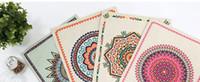 ingrosso cuscini di lino blu-Il vento e la stoffa di stoffa di arte occidentale il cibo di stuoia di cibo di stuoia di stuoia di stoffa il cuscino di stuoia per il rilievo di pad di tavolo la copertura di cuscino di tè