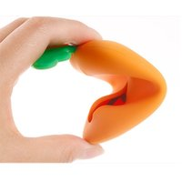 Wholesale Silicone Purse Coin Card Holder - Wholesale- Fashion Silicone Carrot Shape Keyring Key Bag Card Pouch Holder Xmas Gifts 1Pcs