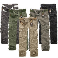 Wholesale Modern Khaki Pants - 2017 New Men Many Pockets Design Fashion Casual Clothing Cargo Pants Good Quality Casual Military tactical Pants