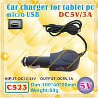 Wholesale Sanei Usb - Wholesale-2pcs [C523] micro USB   5V,3A Car charger for tablet pc;ONDA,CUBE,AMPE,SANEI,AINOL,VIDO,FREELANDER,ONN,IAIWAI,ALLFINE