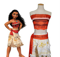 Wholesale Embroider Women Dress - Moana dress Girl Women Animie Movie Polynesia princess Moana Cosplay Costume Dress halloween Princess Fancy Polynesia princess Moana
