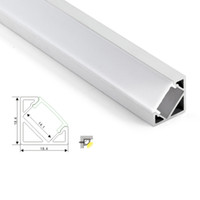 Wholesale led for cabinet - 50 X 1M sets lot 30 degree angle led aluminum profile and V corner channel for kitchen or led cabinet lamps
