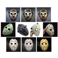 Wholesale Vintage Adult Films - Gold Vintage Party Masks Dedicated Jason Voorhees Freddy Hockey Festival Halloween Masquerade Mask Free Shipping 170908