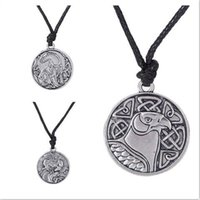 Wholesale Silver Gothic Jewellery - Irish Animal Symbol VintageEagle & Bear & Pegasus and Unicorn Necklace Women Trinity Gothic Mens Jewellery Supernatural Amulet