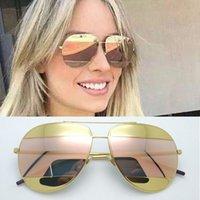 Wholesale Lunette Steampunk - Sale New 2016 Hot Summer Split 1 Sunglasses Women Brand Designer Oculos De Sol Feminino Sun Glasses Gafas De Sol Lunette De Soleil Steampunk