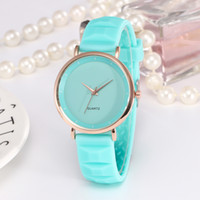 Wholesale Teenage Watches - Fashion Sport Watch Candy Band Women Quartz Watches Men Colorful Silicone Watch Man Teenage Boys Watches