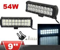 Wholesale Offroad Led Lightbar - 9 inch white 54W CREE LED WORK Lightbar cree 4*4 FLOOD LIGHT TRUCK BOAT OFFROAD LED Light bar utv LLFA