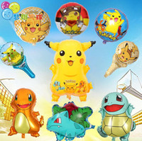 Wholesale Pikachu Party - Poke go Balloons ballon Cartoon Pikachu Balloon Birthday Party Wedding Decoration Globos Poke Balls Foil Balloons Toys