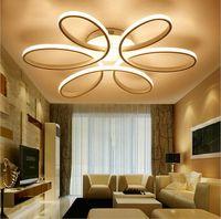 luz de techo flor al por mayor-Minimalismo moderno LLEVÓ la iluminación de la araña del techo Flor de aluminio llevó la lámpara de techo para la sala de estar Comedor Dormitorio