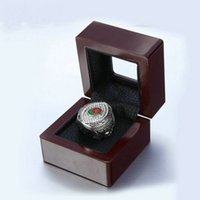 Wholesale Gift Boxes Windows - Factory Direct Sale Best Gifts Beautiful Brown Color Fashion Sport Championship Rings Wooden Box With Window