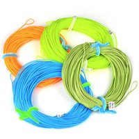 Wholesale 100FT Weight Forward Floating Fly Fishing Line WF F F F F F F F Fly Line Moss Green Orange Fluo Yellow Color