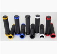 Wholesale Handle Grips For Bicycles - 1 Pair Colorful Cycling Handlebars Lock-on Handle Grips For Mountain Bicycle