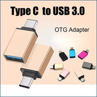 Wholesale Otg Cable Dhl - Metal USB 3.1 Type C Male To USB 3.0 Female OTG Adapter Converter For Macbook Google Chromebook DHL