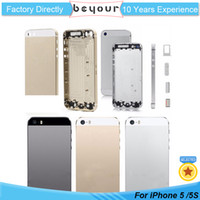 Wholesale Middle Frame Iphone Complete - Brand New Complete Phone Housing For iPhone 5 5s Metal Back Battery Cover Mid Middle Frame Parts Assembly Repiar Part