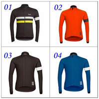 Rapha Long Sleeve Cycling Jerseys Pink Durable Perspiration Transpirable Ciclismo Ropa Hombres Ciclismo Jerseys