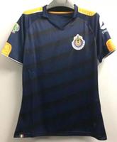 Wholesale English Men Suits - 2017 Chivas Guadalajara Blue jersey of the Thai quality 2017 to 2018 Chivas Guadalajara Adult suits English football shirt