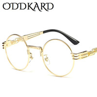 Wholesale Purple Steampunk - ODDKARD Vintage Steampunk Sunglasses For Men and Women Brand Designer Round Fashion Sun Glasses Oculos de sol UV400