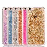 Soft TPU Bling Sparkle Case pour iPhone 6 / 6s, Colorful Leaf Design Semi-transparent Back Cover Protective Phone Shell pour iPhone 7